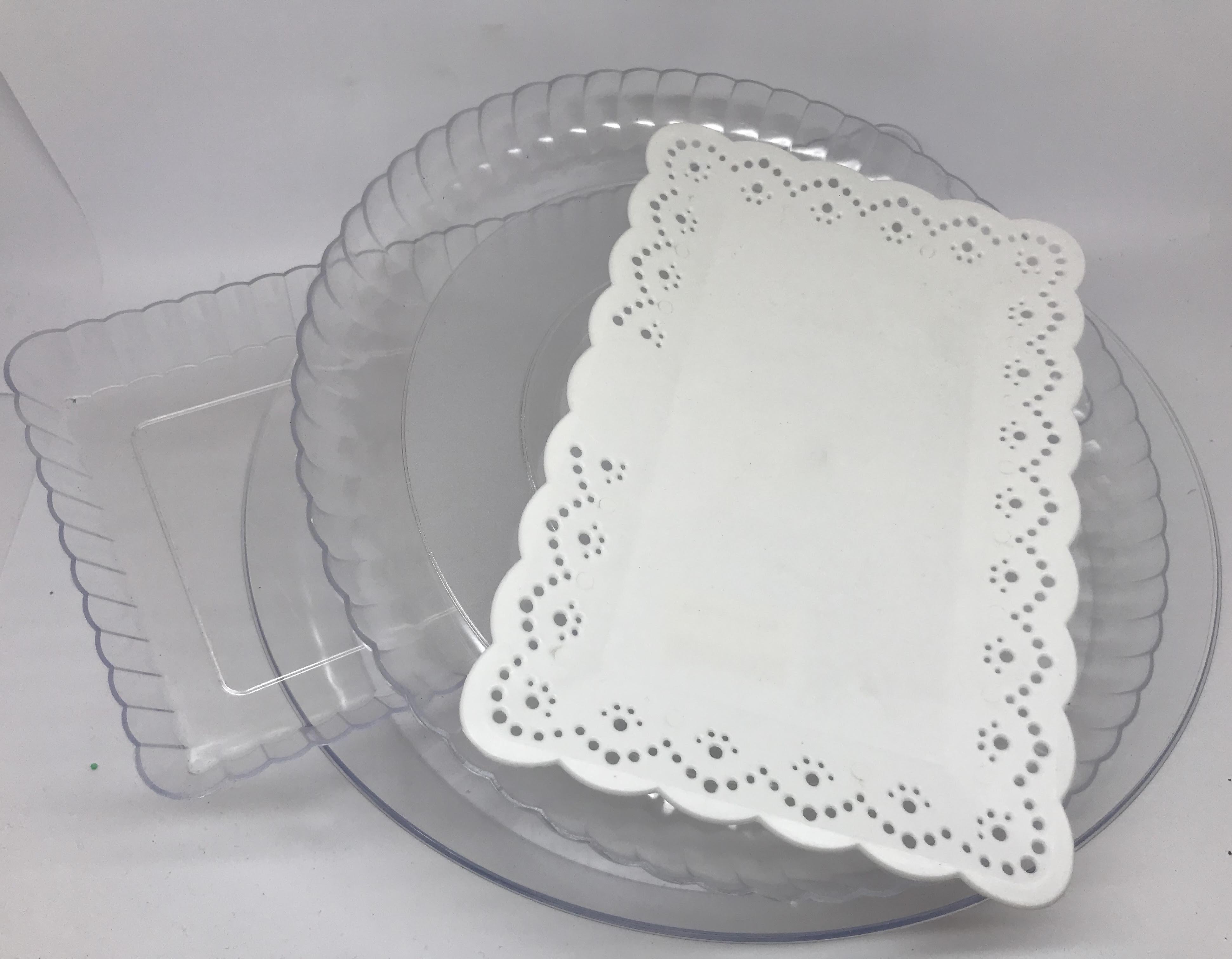 Pratos e Bandejas de Plástico