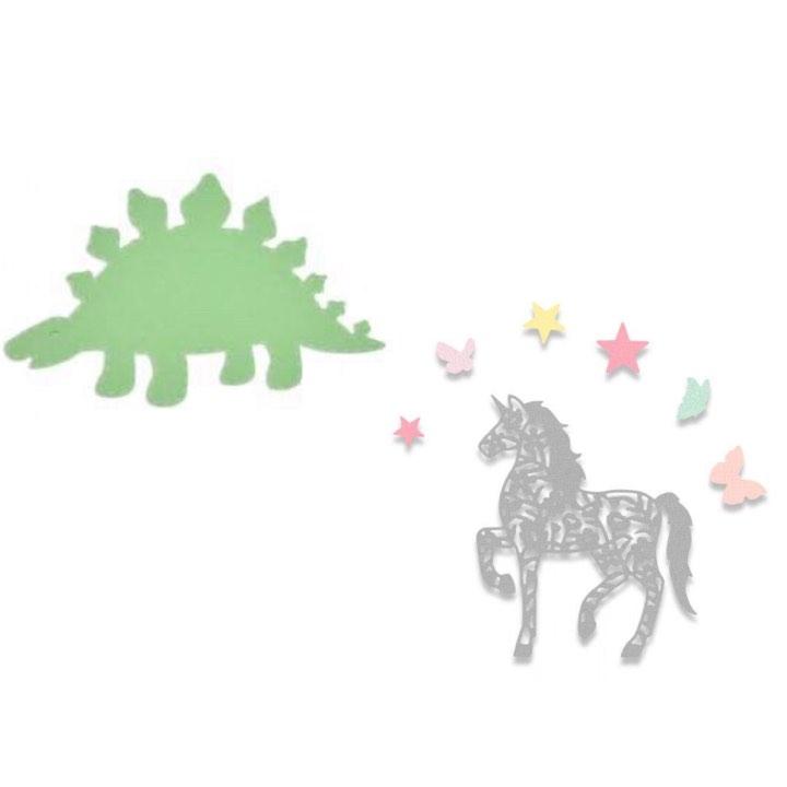 Cortantes Sizzix Unicórnios/Dinossauros